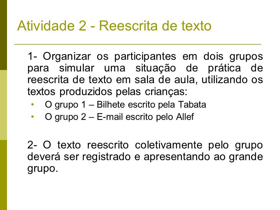 Atividade 2 - Reescrita de texto