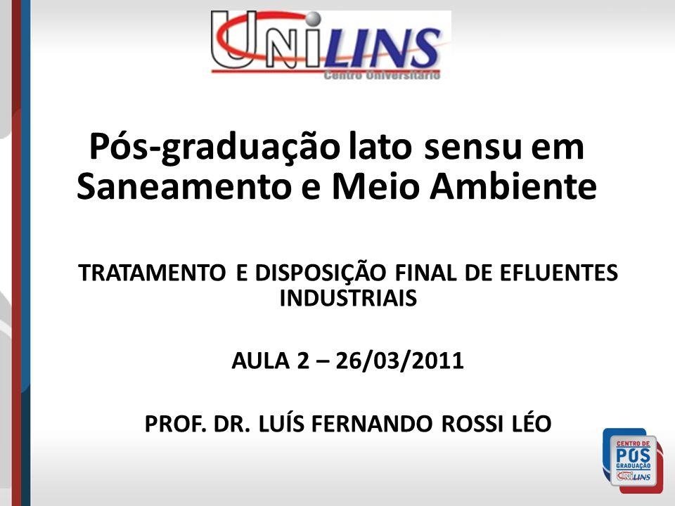 Pós-graduação lato sensu em Saneamento e Meio Ambiente
