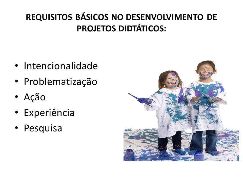 REQUISITOS BÁSICOS NO DESENVOLVIMENTO DE PROJETOS DIDTÁTICOS: