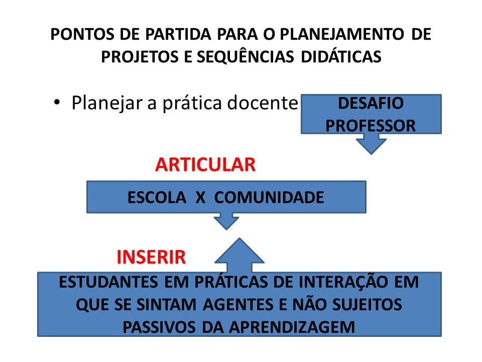 Planejar a prática docente é ARTICULAR