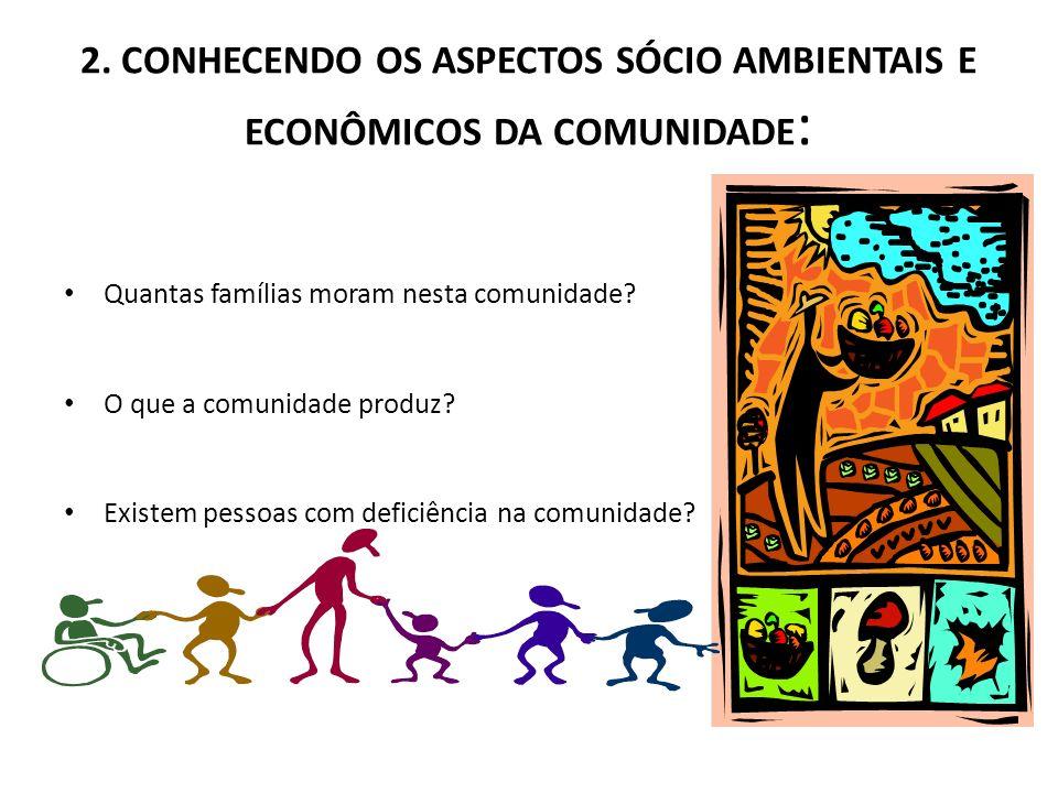 2. CONHECENDO OS ASPECTOS SÓCIO AMBIENTAIS E ECONÔMICOS DA COMUNIDADE: