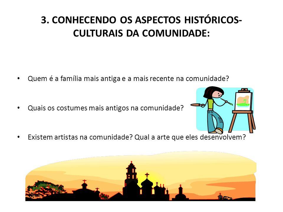 3. CONHECENDO OS ASPECTOS HISTÓRICOS-CULTURAIS DA COMUNIDADE: