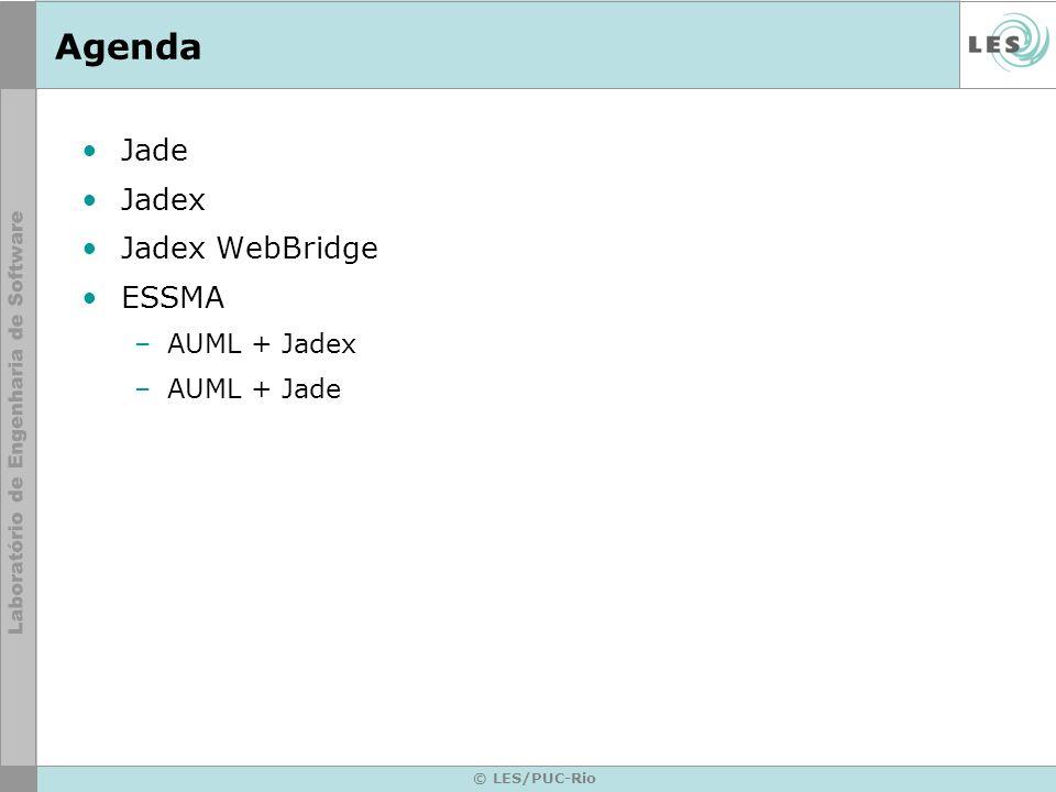 Agenda Jade Jadex Jadex WebBridge ESSMA AUML + Jadex AUML + Jade