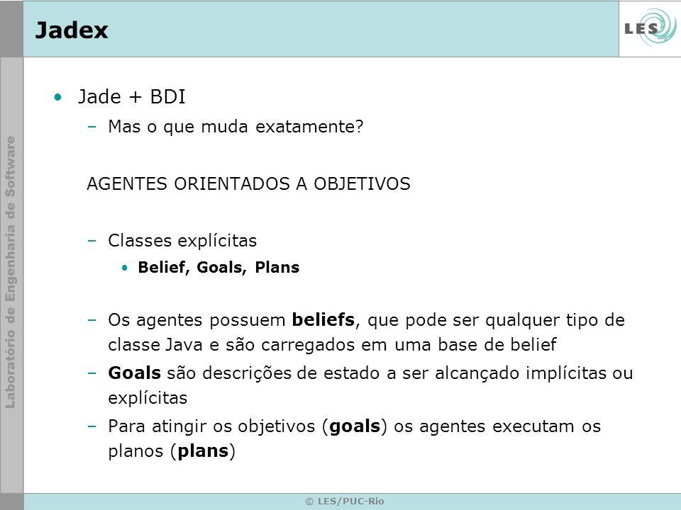 Jadex Jade + BDI Mas o que muda exatamente