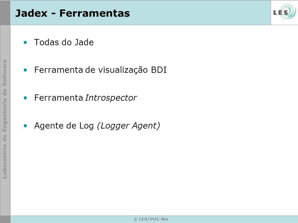 Jadex - Ferramentas Todas do Jade Ferramenta de visualização BDI