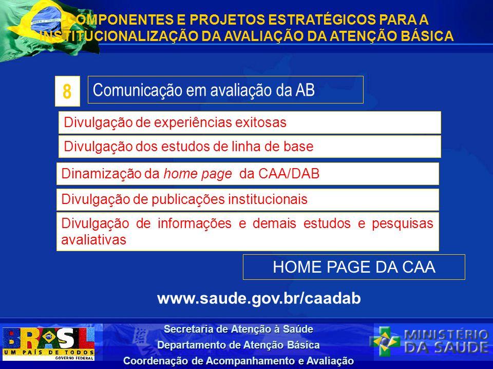 8 Comunicação em avaliação da AB HOME PAGE DA CAA