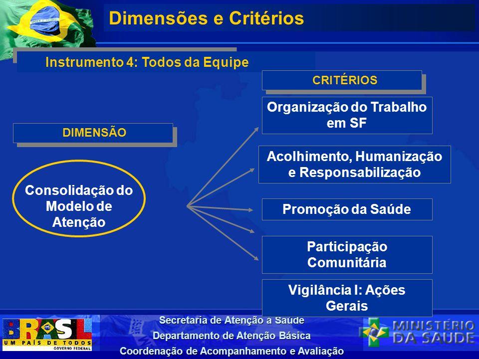 Dimensões e Critérios Instrumento 4: Todos da Equipe