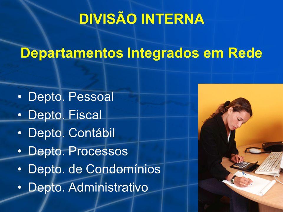 DIVISÃO INTERNA Departamentos Integrados em Rede