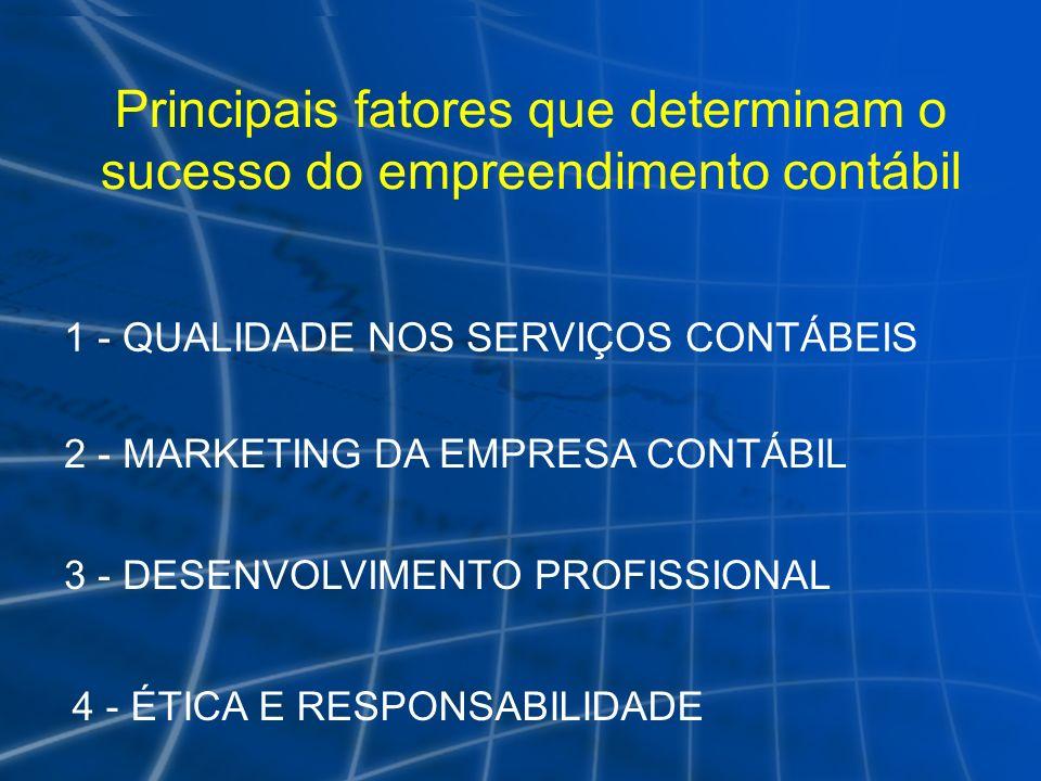 Principais fatores que determinam o sucesso do empreendimento contábil