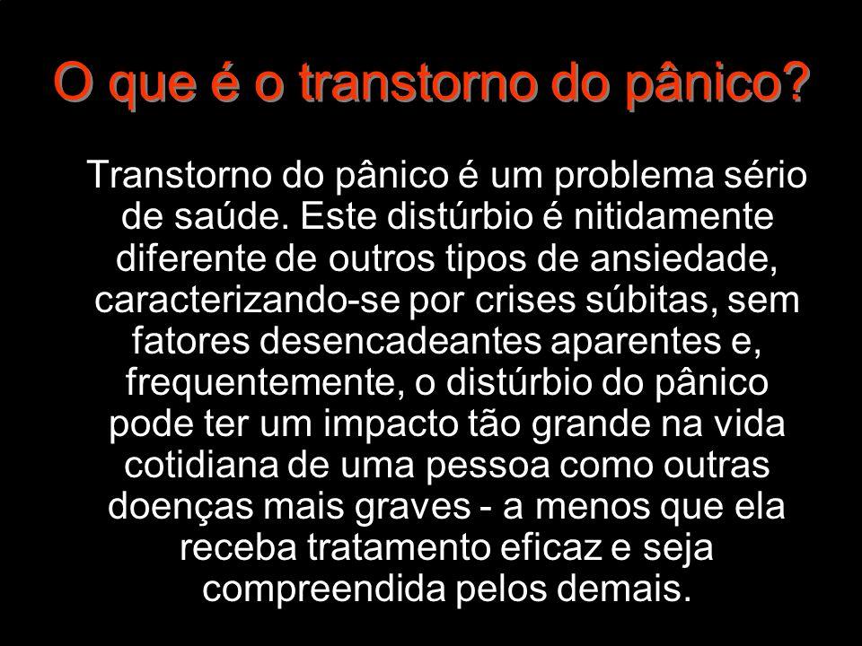 O que é o transtorno do pânico