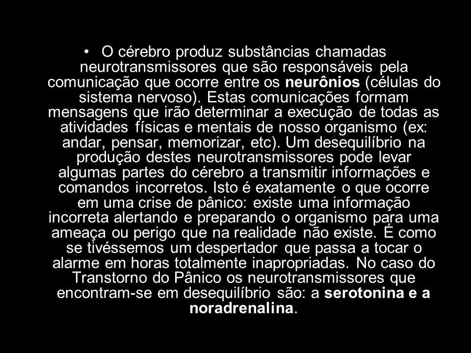 O cérebro produz substâncias chamadas neurotransmissores que são responsáveis pela comunicação que ocorre entre os neurônios (células do sistema nervoso).