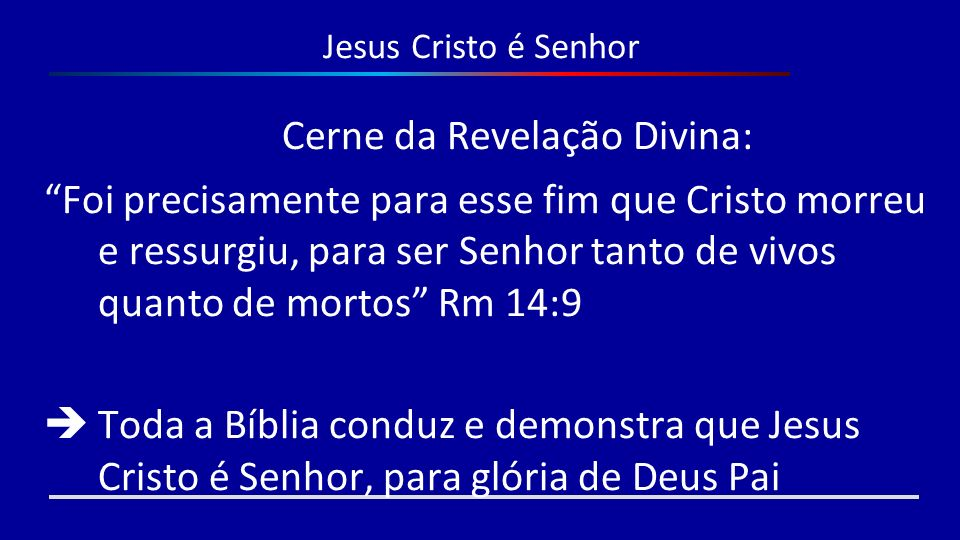 Cerne da Revelação Divina: