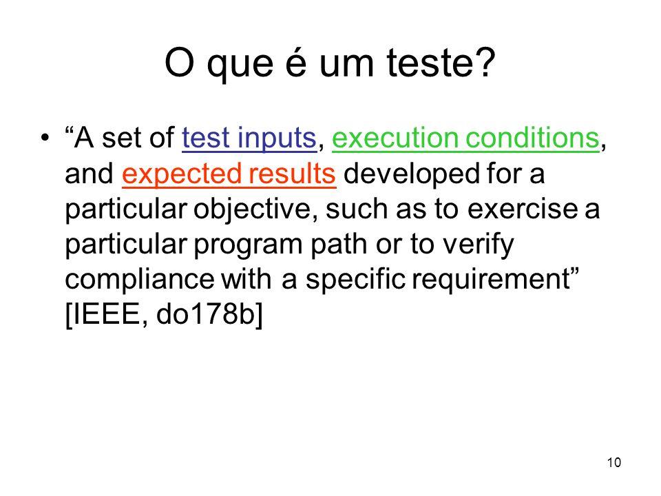 O que é um teste