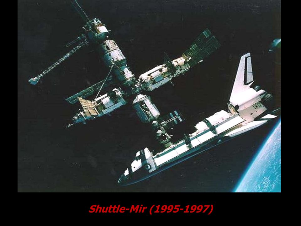 Cortesia NASA. Shuttle-Mir (1995-1997)