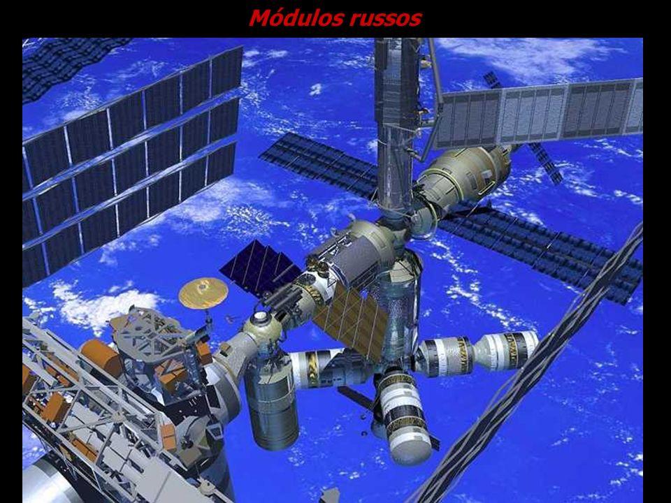 Módulos russos Cortesia NASA.