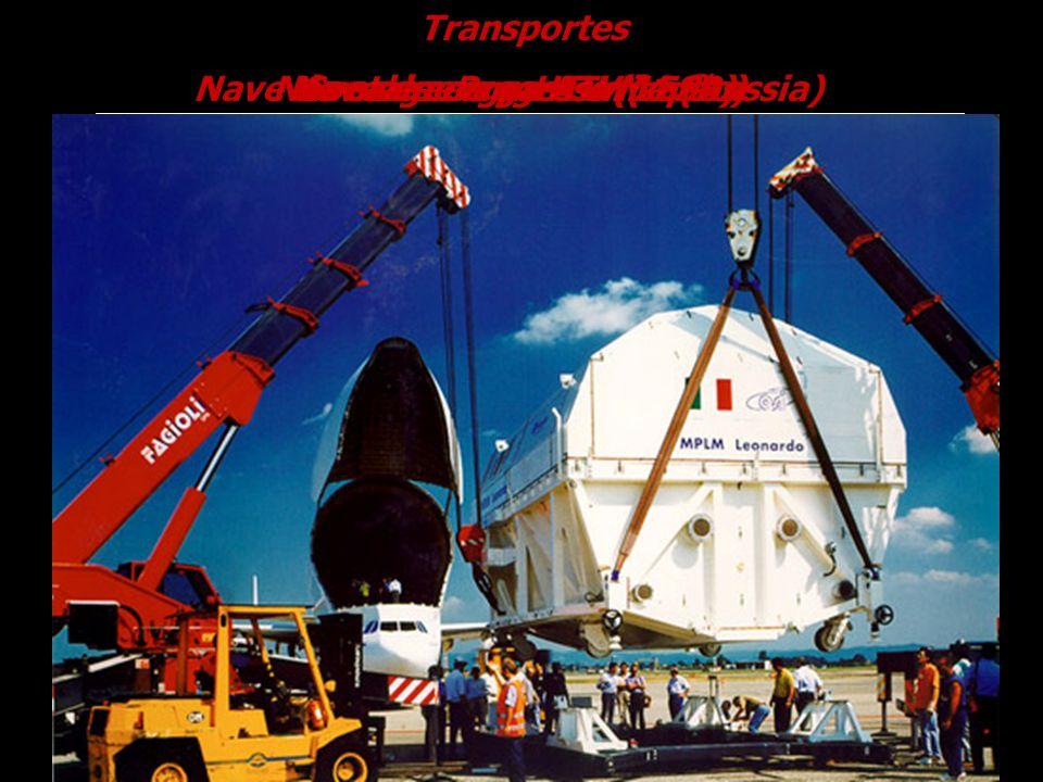 TransportesNave de carga Progress M1 (Russia) Nave de carga HTV (Japão) Nave de carga ATV ( ESA) Containers pressurizados.