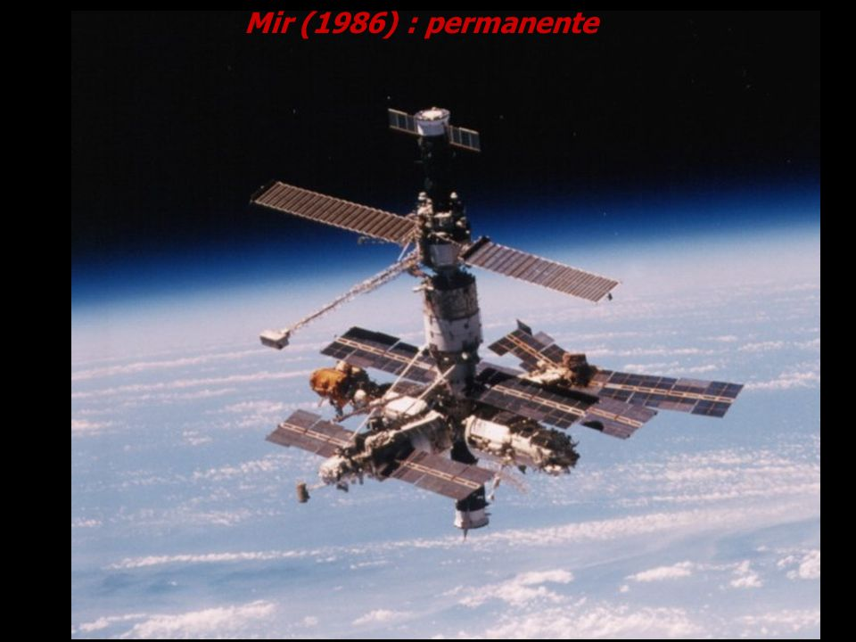 Mir (1986) : permanente Cortesia NASA.