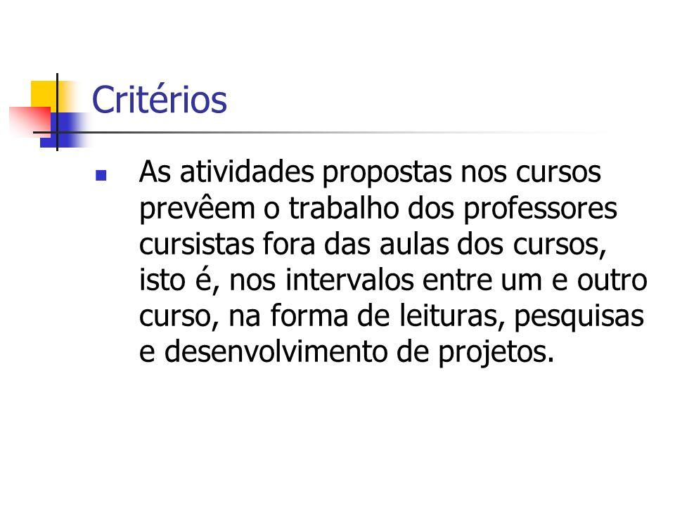 Critérios