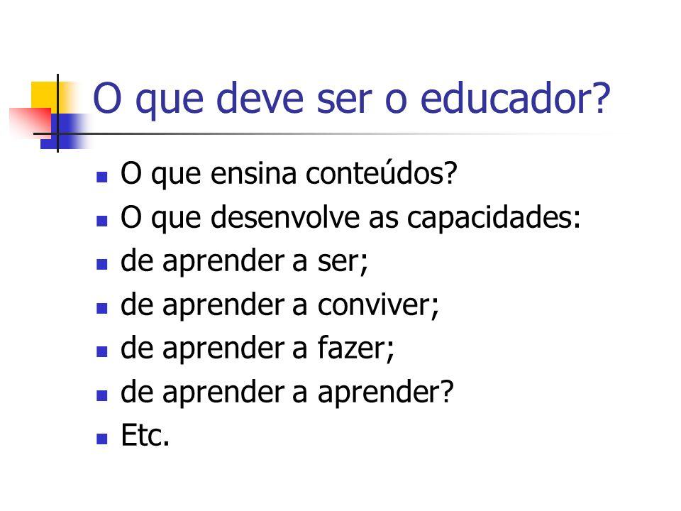 O que deve ser o educador