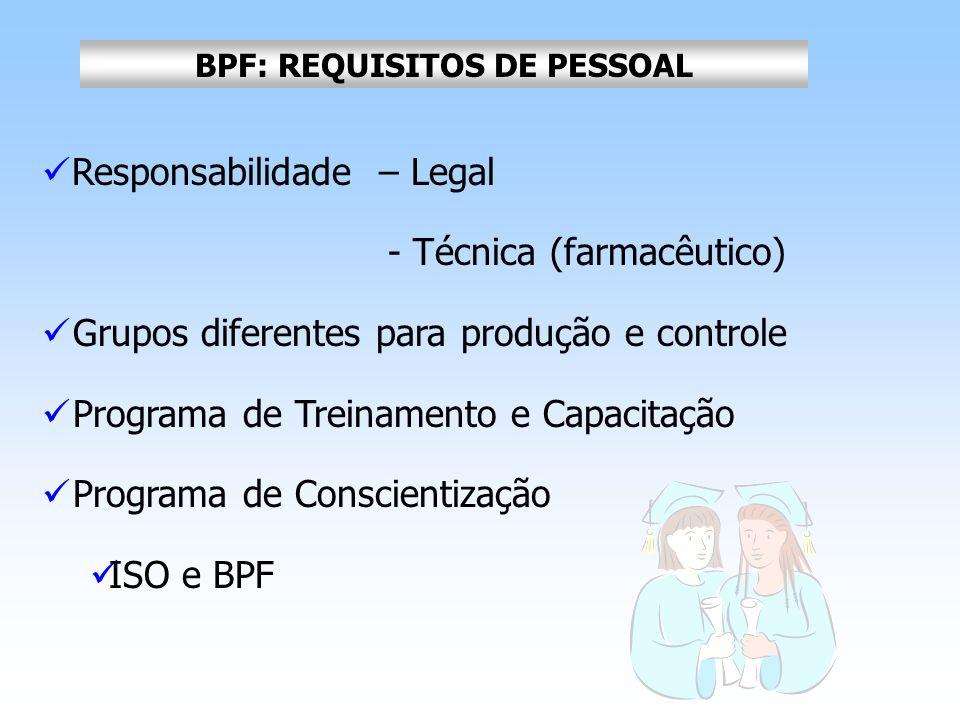 BPF: REQUISITOS DE PESSOAL