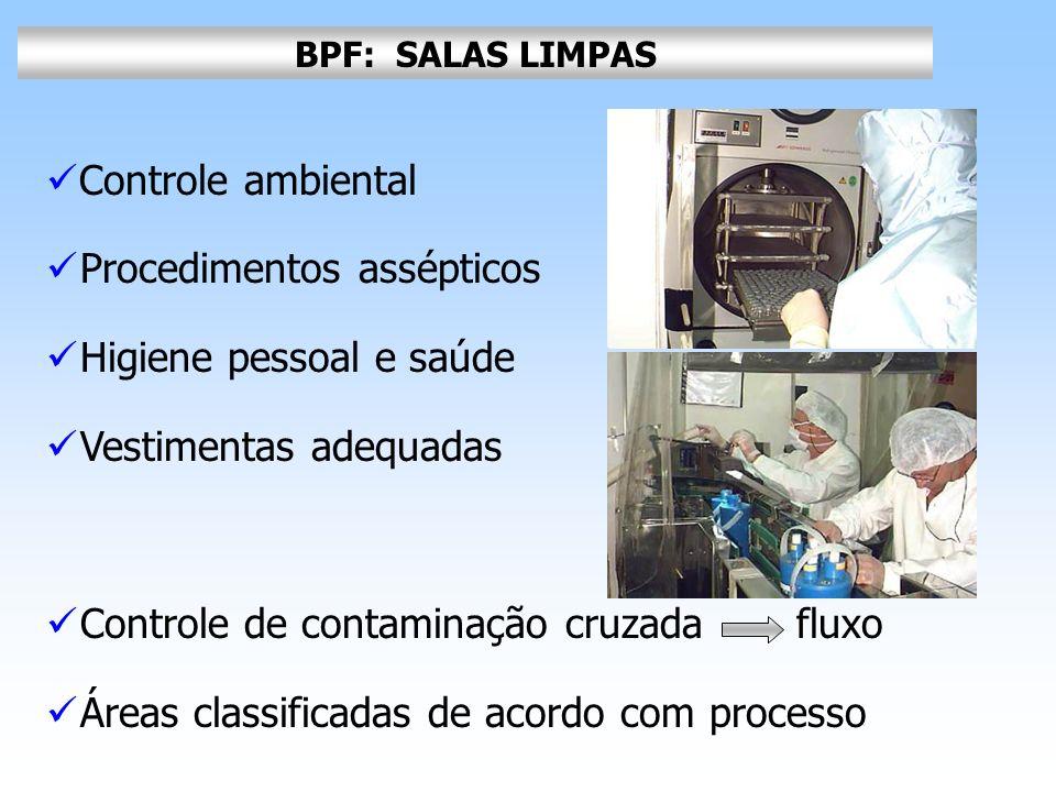 Procedimentos assépticos Higiene pessoal e saúde Vestimentas adequadas