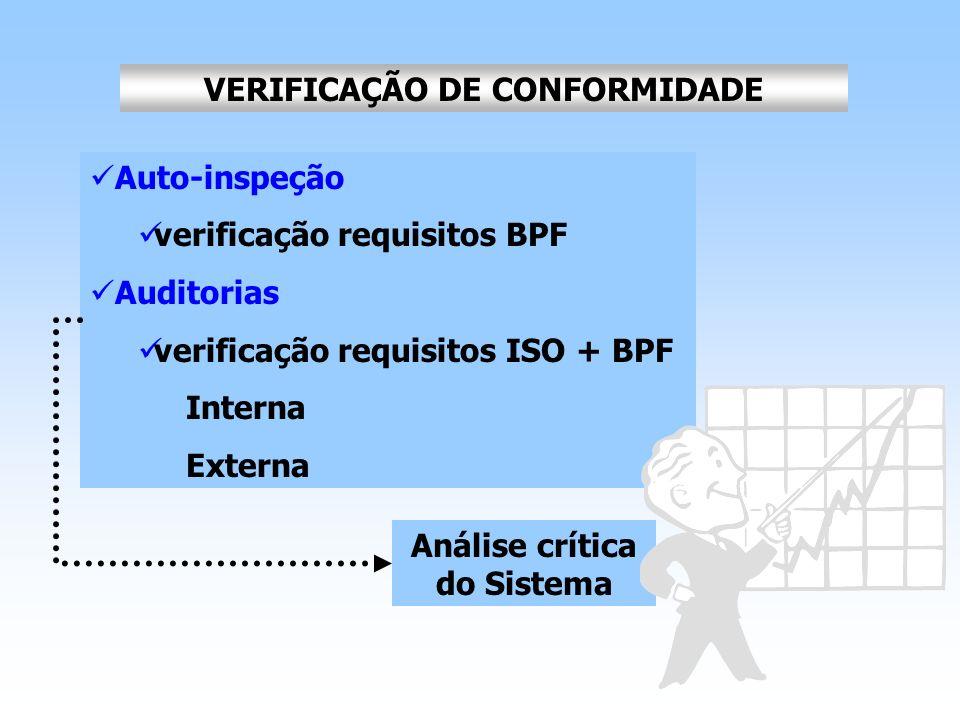 VERIFICAÇÃO DE CONFORMIDADE Análise crítica do Sistema