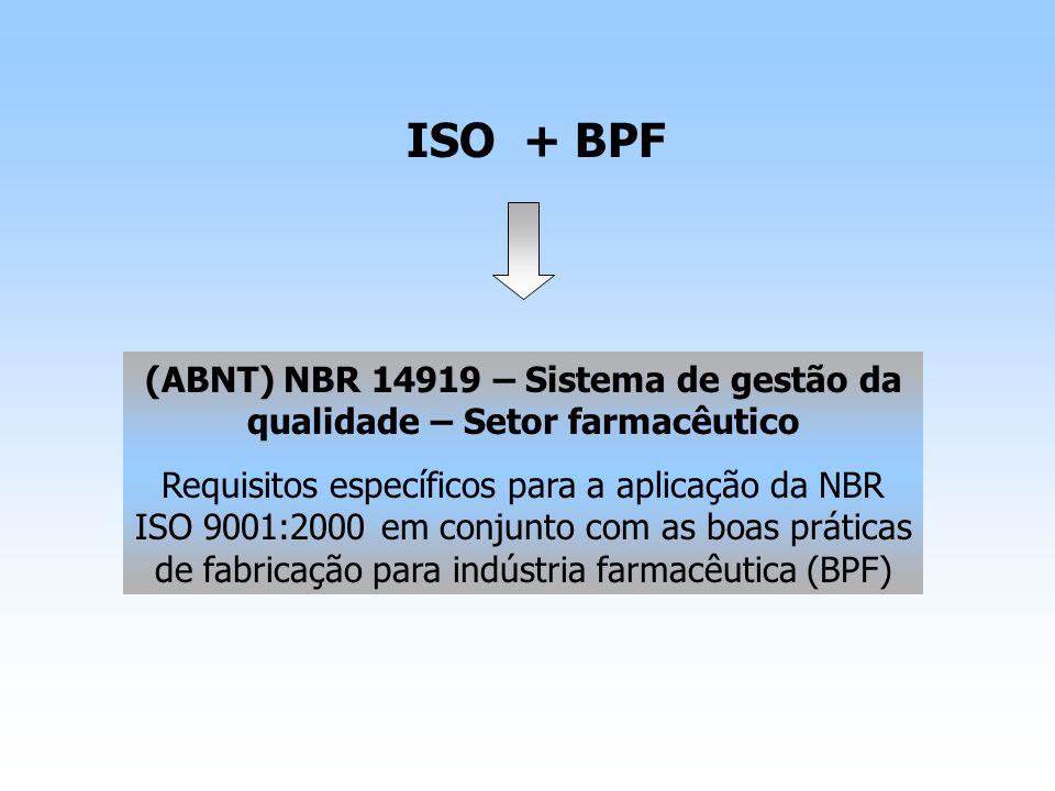 (ABNT) NBR 14919 – Sistema de gestão da qualidade – Setor farmacêutico