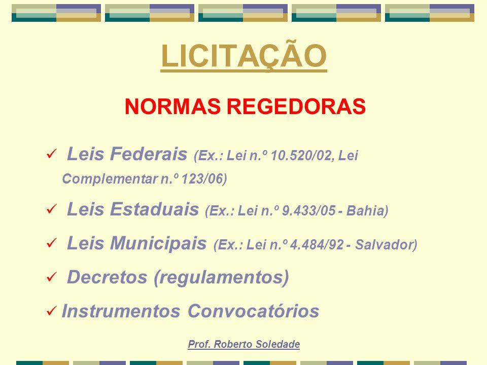 LICITAÇÃO NORMAS REGEDORAS