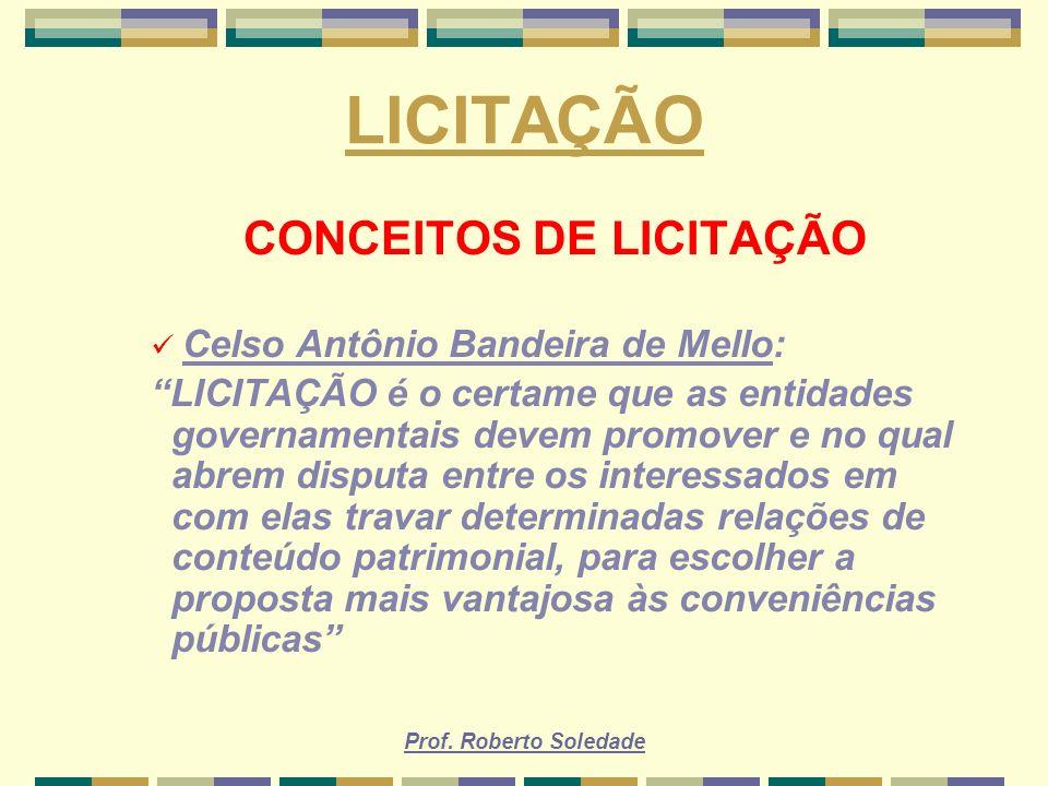 CONCEITOS DE LICITAÇÃO