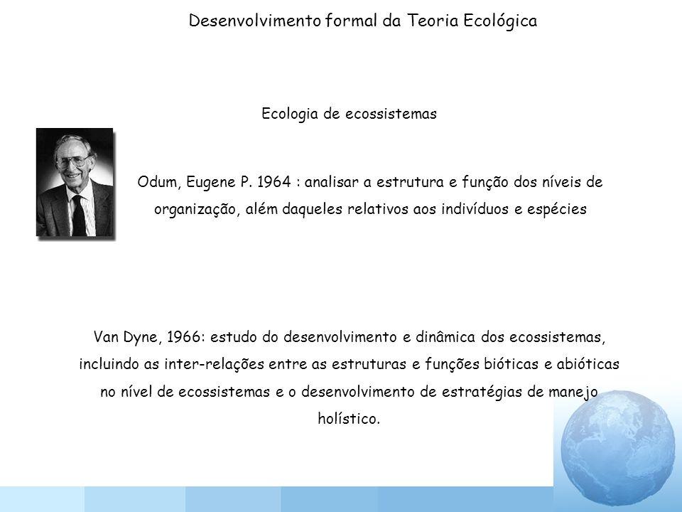 Desenvolvimento formal da Teoria Ecológica