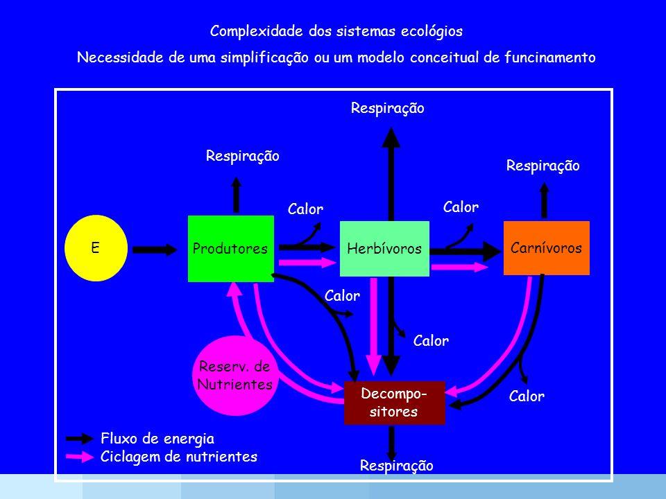 Complexidade dos sistemas ecológios