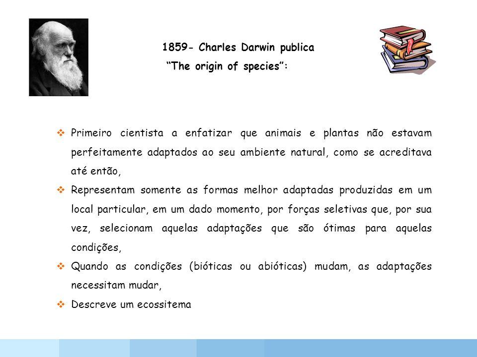 1859- Charles Darwin publica