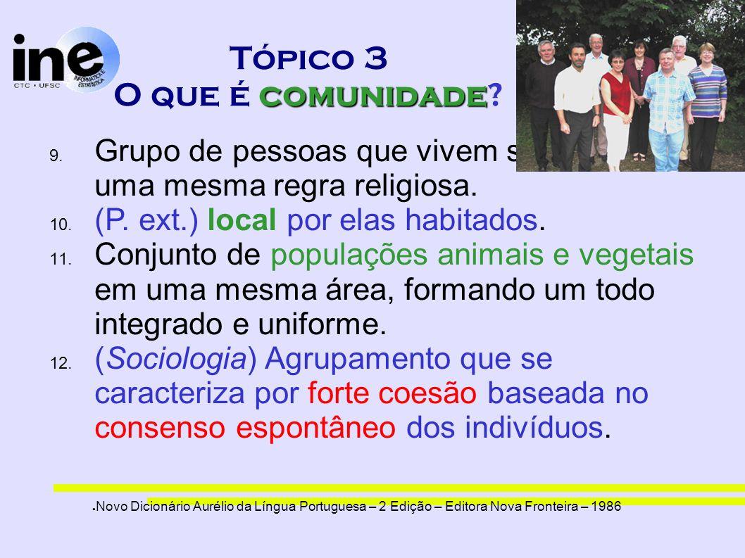 Tópico 3 O que é comunidade