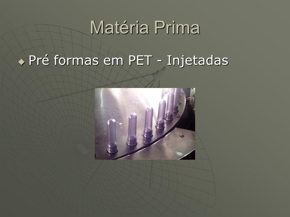 Matéria Prima Pré formas em PET - Injetadas