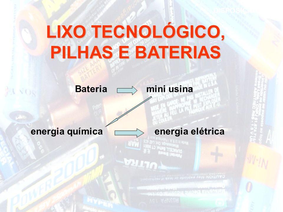 LIXO TECNOLÓGICO, PILHAS E BATERIAS Bateria mini usina