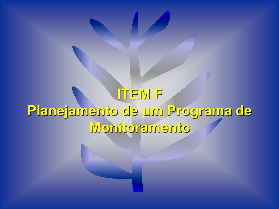 Planejamento de um Programa de Monitoramento