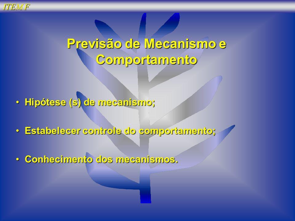 Previsão de Mecanismo e Comportamento