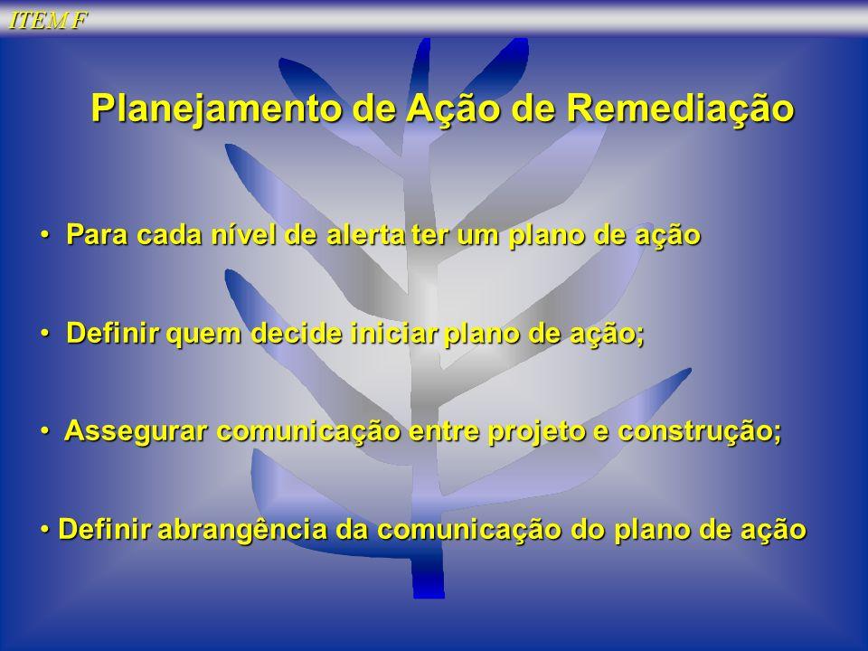 Planejamento de Ação de Remediação