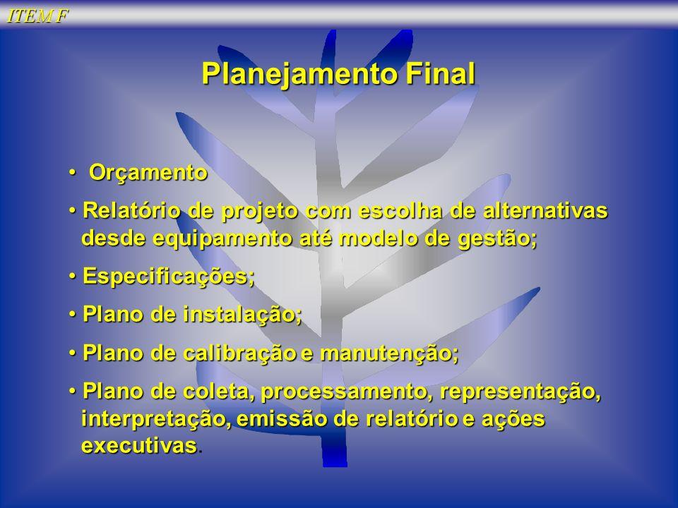 Planejamento Final Orçamento