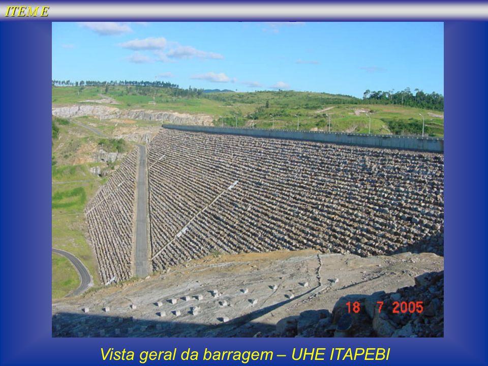 Vista geral da barragem – UHE ITAPEBI
