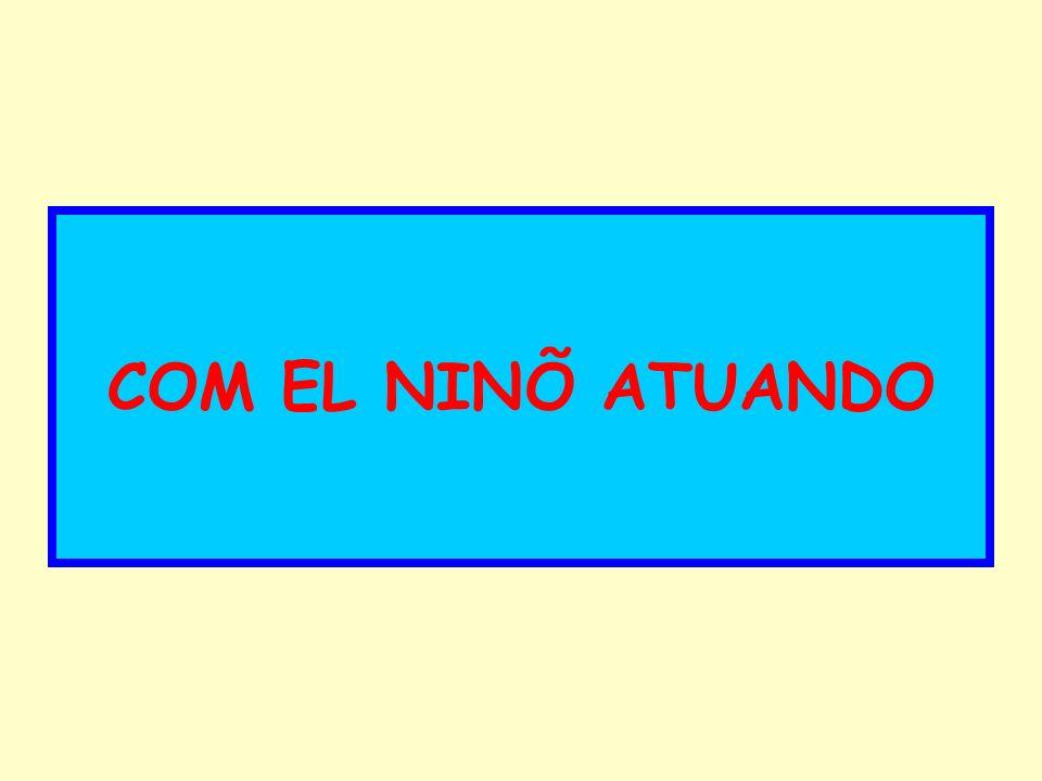 COM EL NINÕ ATUANDO