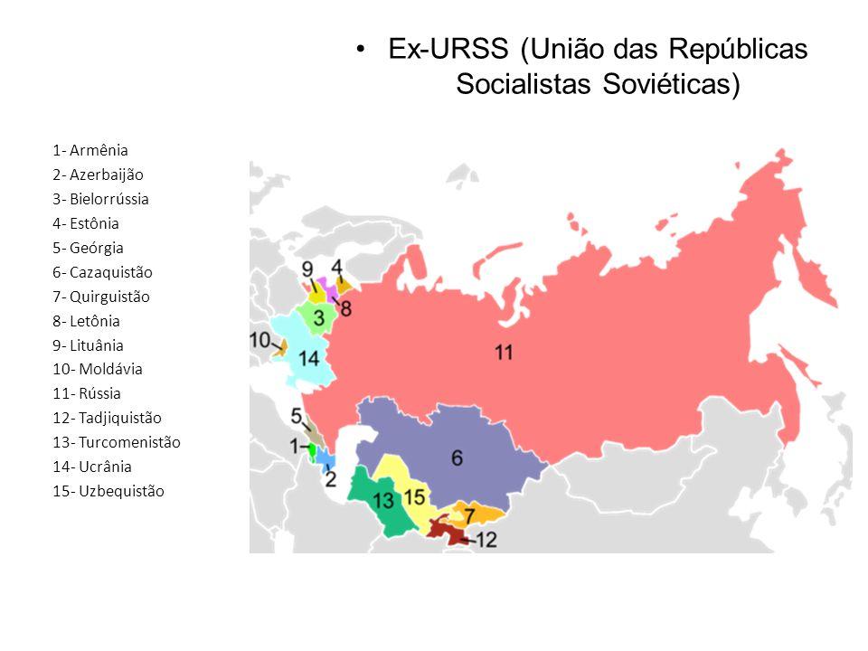 Ex-URSS (União das Repúblicas Socialistas Soviéticas)