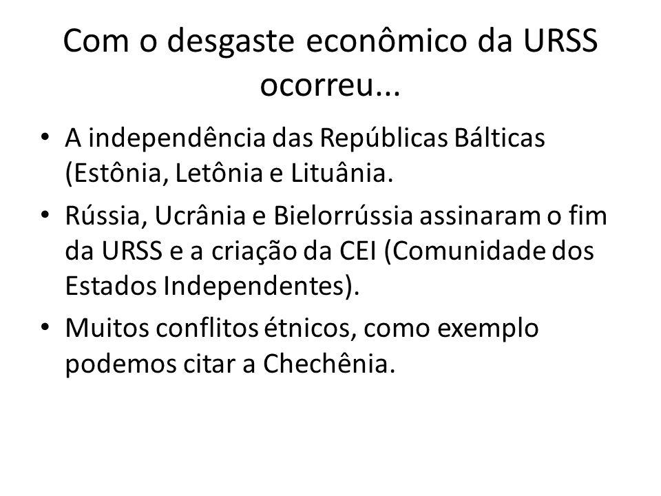 Com o desgaste econômico da URSS ocorreu...