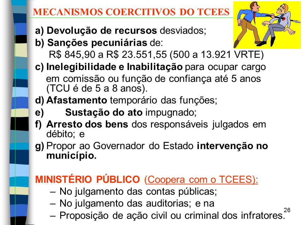 MECANISMOS COERCITIVOS DO TCEES