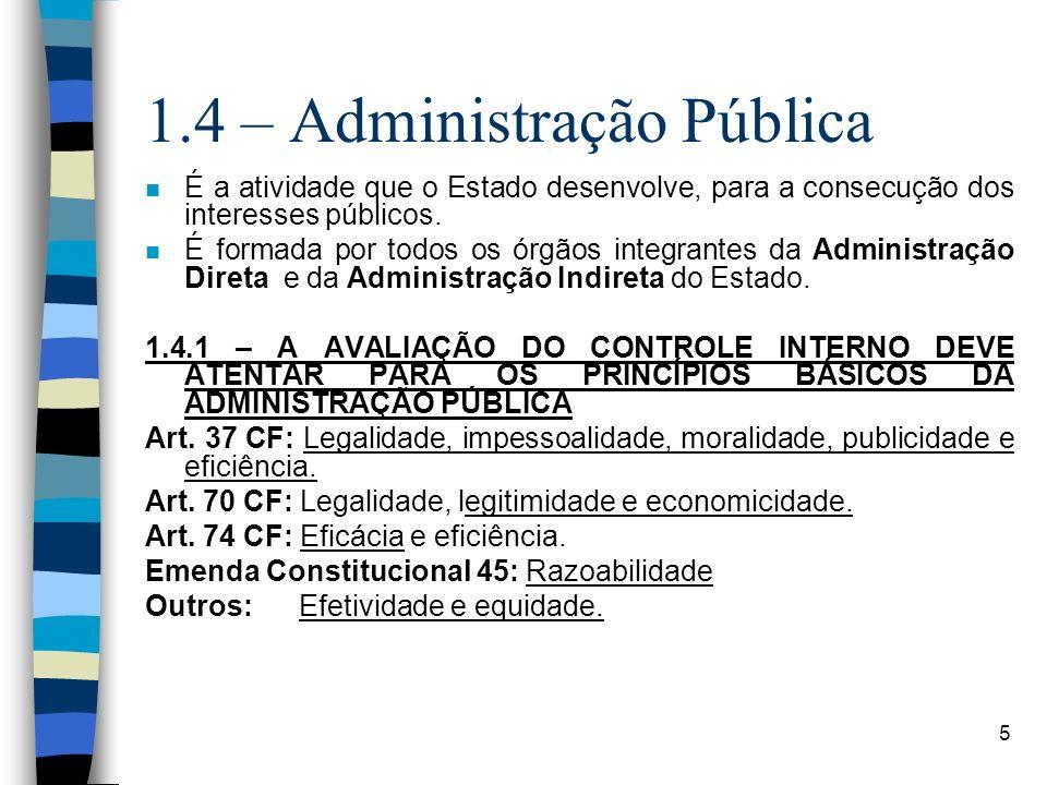 1.4 – Administração Pública