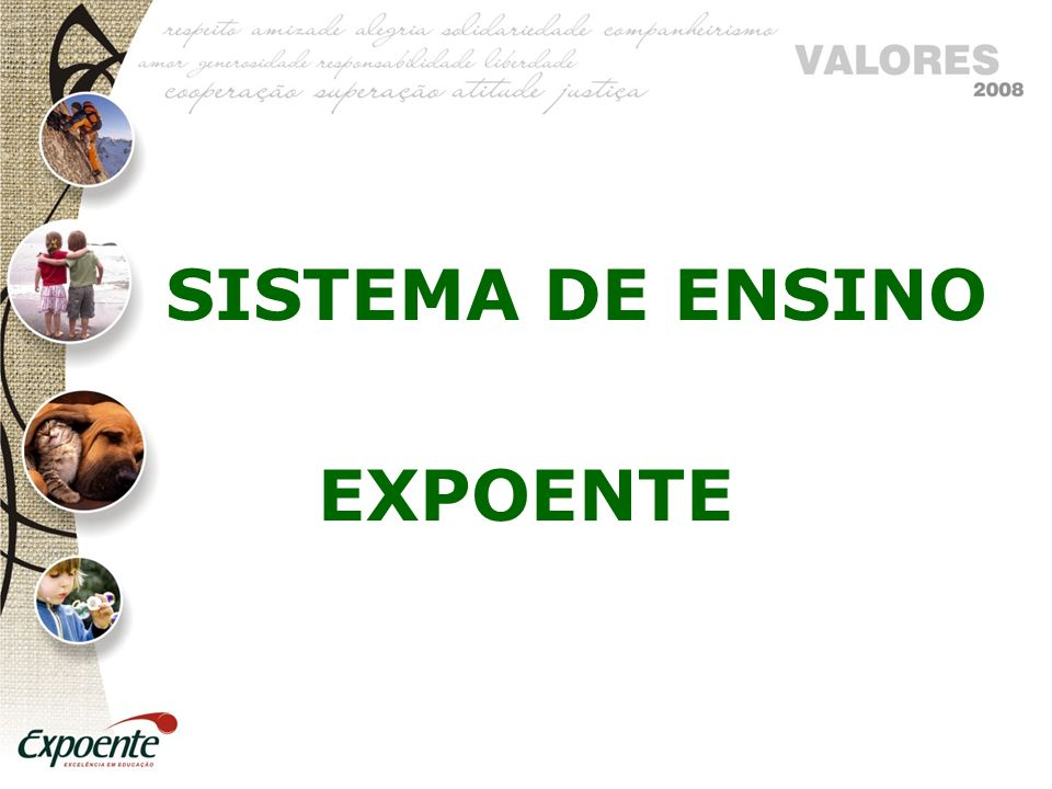 SISTEMA DE ENSINO EXPOENTE