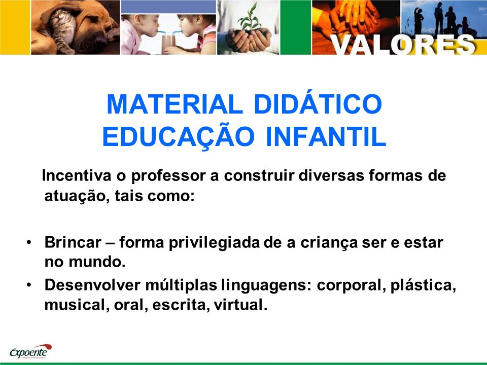 MATERIAL DIDÁTICO EDUCAÇÃO INFANTIL