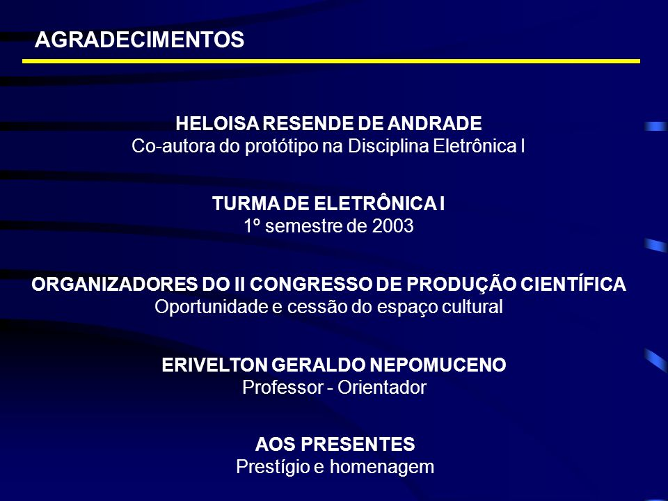 AGRADECIMENTOS HELOISA RESENDE DE ANDRADE