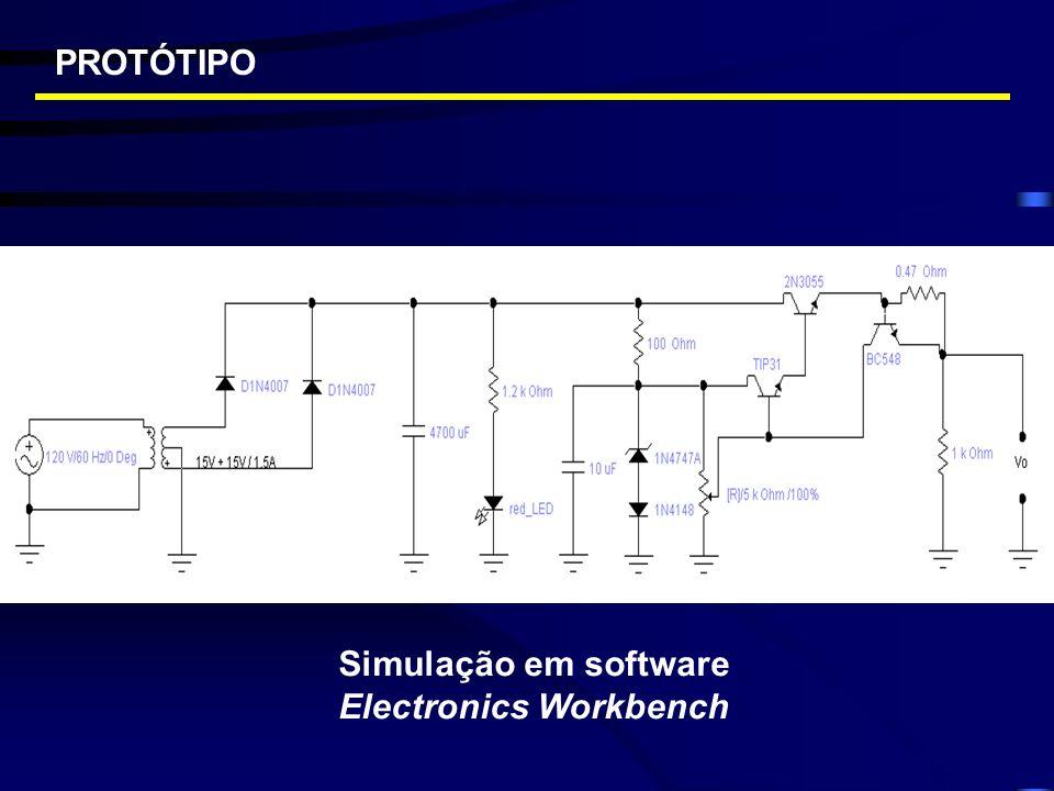 PROTÓTIPO Simulação em software Electronics Workbench