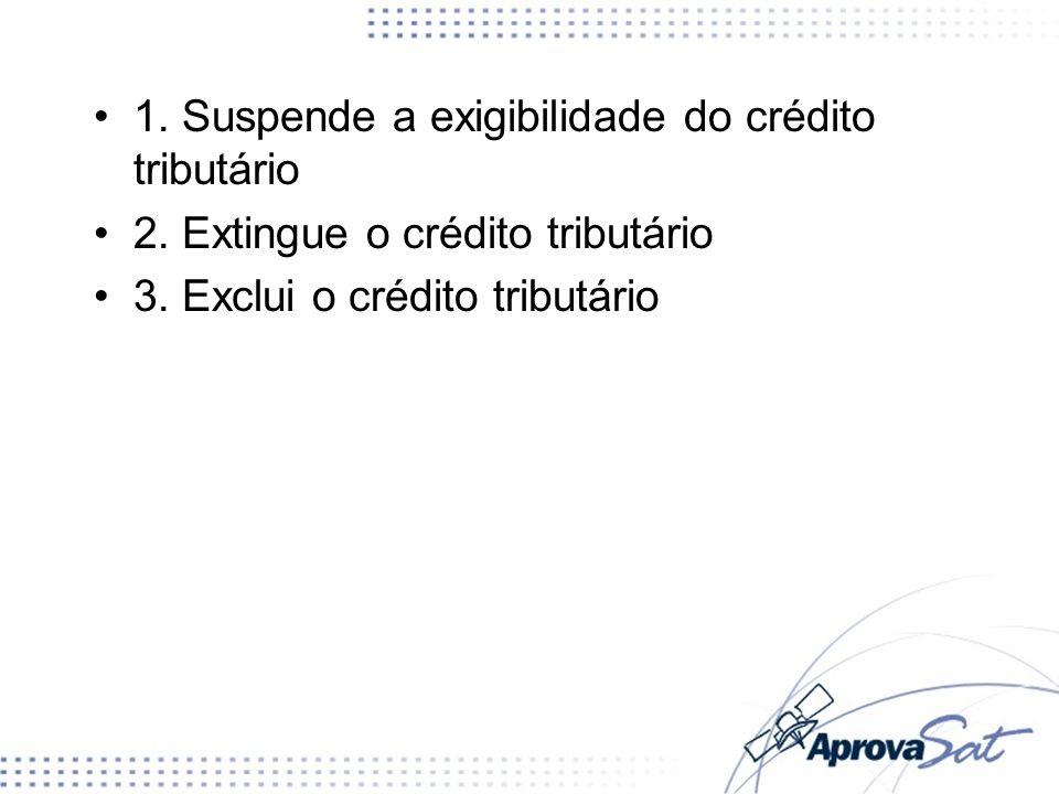 1. Suspende a exigibilidade do crédito tributário